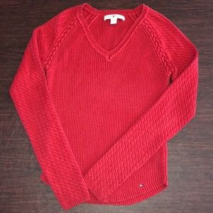 Tommy Hilfiger red sweater, S/P